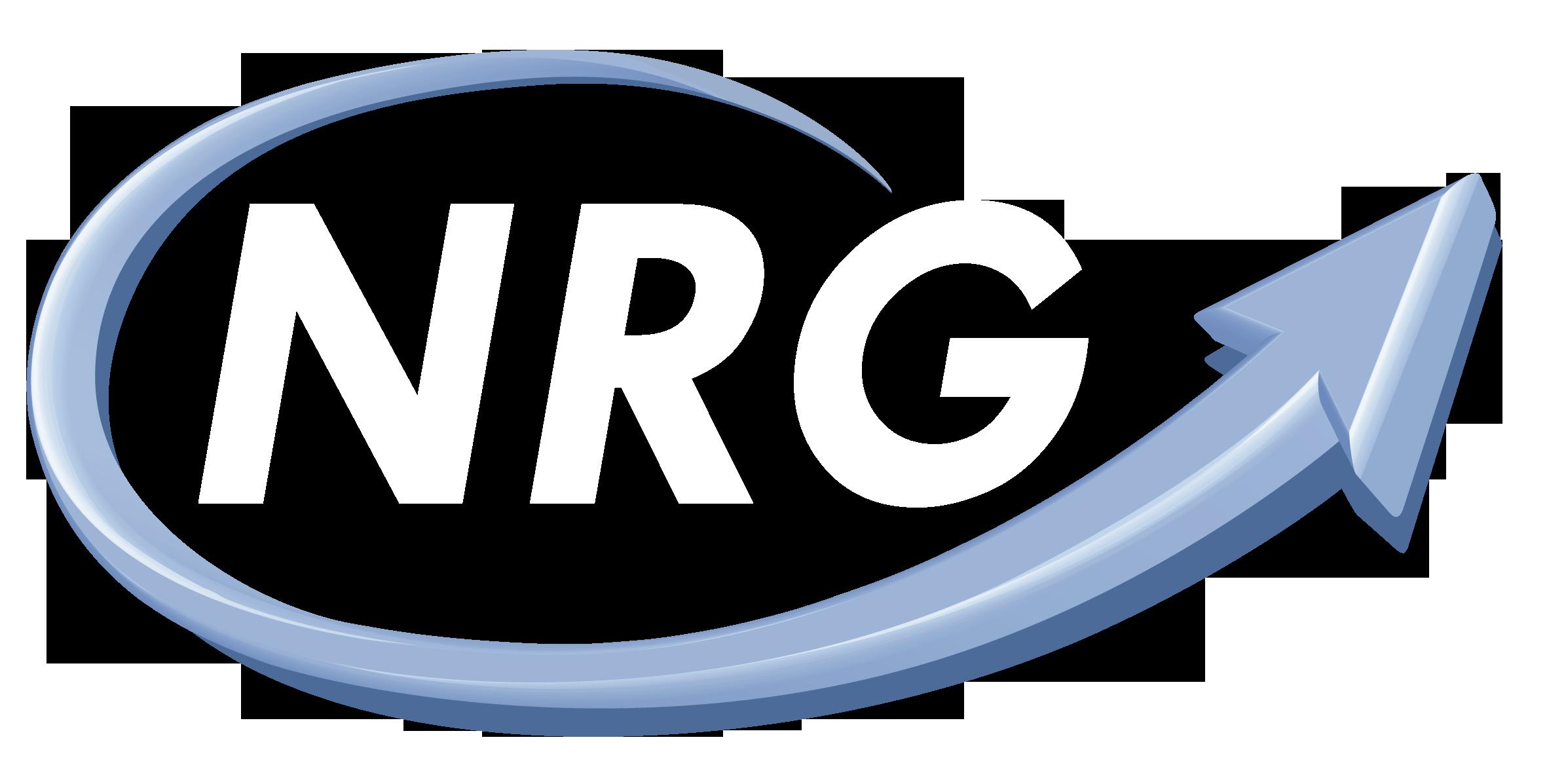 nrg logo white final blue shadow